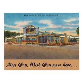 Cartão Postal Nebraska, terraço real, parque da peônia, Omaha