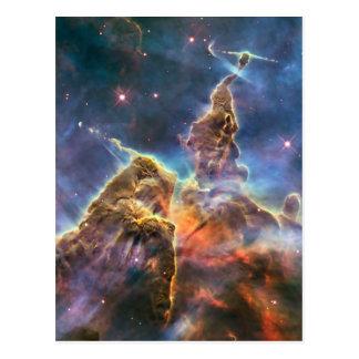 Cartão Postal Nebulosa de Carina pelo telescópio espacial de