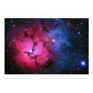 Cartão Postal Nebulosa de reflexão Trifid M20 da emissão NGC