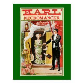 Cartão Postal Necromancer mágico 1910 de Karl do poster do