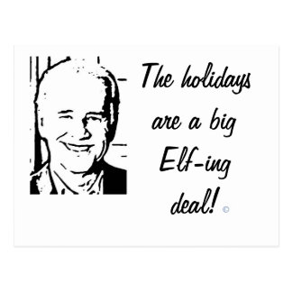 Cartão Postal Negócio grande do Duende-ing de Joe Biden