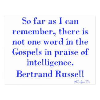 Cartão Postal Nenhum elogio da inteligência nos evangelho