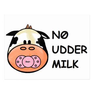 Cartão Postal Nenhum leite da teta