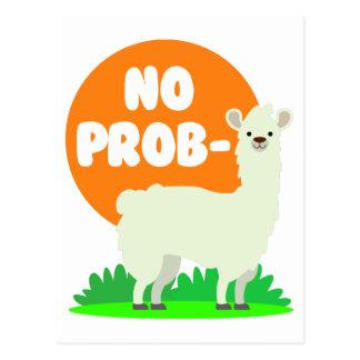 Cartão Postal Nenhum Prob-Lama - nenhum lama do problema -