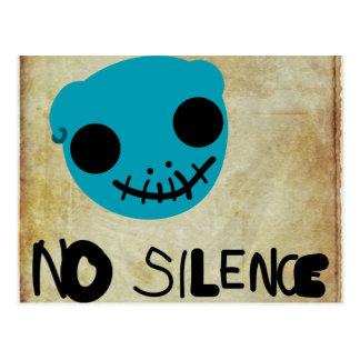 Cartão Postal Nenhum silêncio