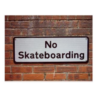 Cartão Postal Nenhum Skateboarding