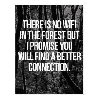 Cartão Postal Nenhum WiFi na floresta
