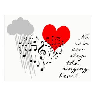 Cartão Postal Nenhuma chuva pode parar o coração do canto