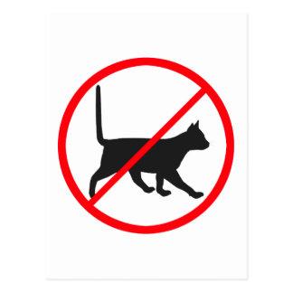 Cartão Postal Nenhuma entrada para gatos!