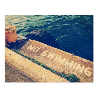Cartão Postal Nenhuma natação