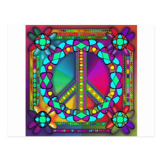 Cartão Postal nenhuma zona das armas nucleares colorida