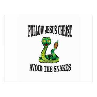 Cartão Postal Nenhuns cobras com JC