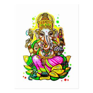 Cartão Postal Néon do elefante de Ganesh da arte da rua dos