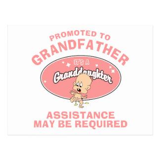 Cartão Postal Neta nova promovida ao avô