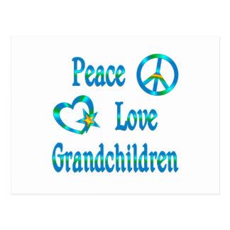 Cartão Postal Netos do amor da paz