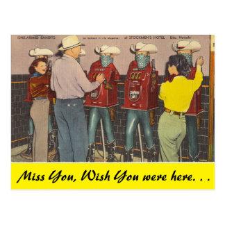 Cartão Postal Nevada, um armou bandidos, Elko