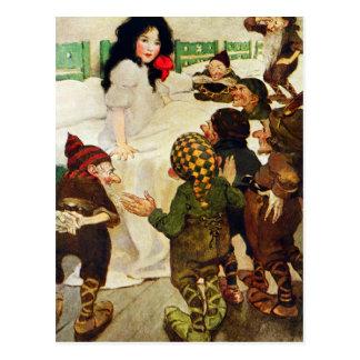 Cartão Postal Neve branca e os sete anões