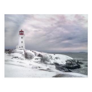 Cartão Postal Neve do inverno na angra Halifax Nova Escócia de