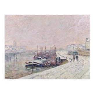 Cartão Postal Neve em Rouen