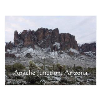 Cartão Postal Neve nas montanhas da superstição