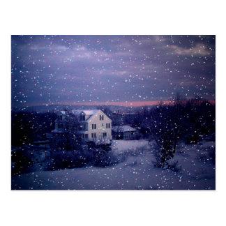 Cartão Postal Neve que cai em Manchester