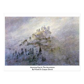 Cartão Postal Névoa da manhã nas montanhas