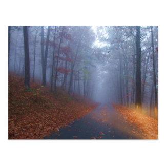 Cartão Postal Névoa do outono