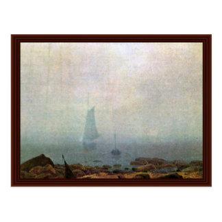 Cartão Postal Névoa por Friedrich Caspar David