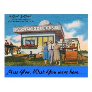 Cartão Postal New Hampshire, Bedford Golfland, Manchester
