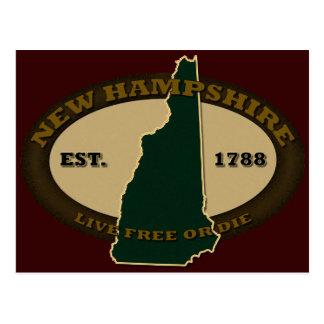 Cartão Postal New Hampshire Est 1788