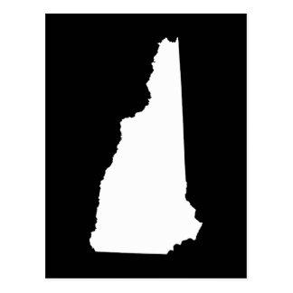 Cartão Postal New Hampshire no branco e no preto