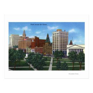 Cartão Postal New Haven, CTView através do verde