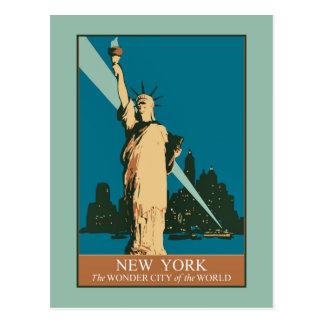 Cartão Postal New York a cidade da maravilha do mundo
