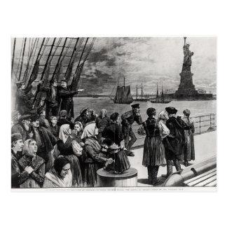 Cartão Postal New York - boa vinda à terra da liberdade