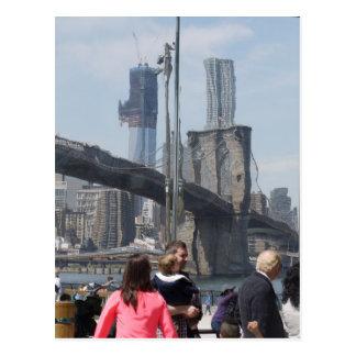 Cartão Postal New York distorceu