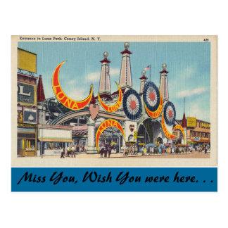 Cartão Postal New York, Luna Park, Coney Island