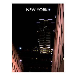 Cartão Postal New York na noite