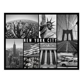 Cartão Postal New York preto e branco