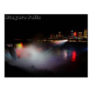 Cartão Postal Niagara Falls na noite