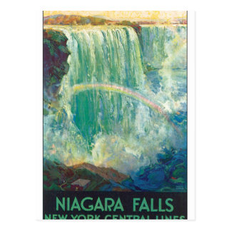 Cartão Postal Niagra cai trabalhos de arte do poster das viagens