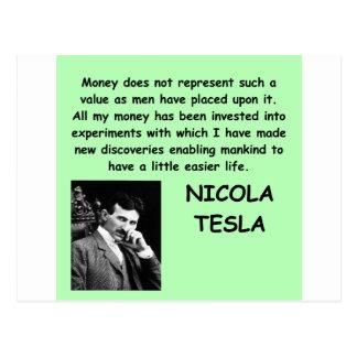 Cartão Postal Nicola Tesla