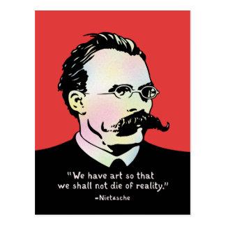 Cartão Postal Nietzsche - realidade da arte v.