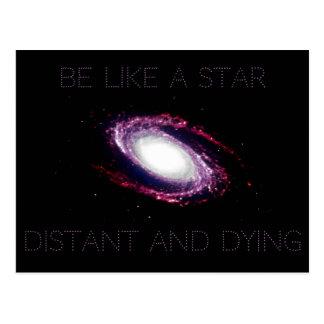 Cartão Postal Niilismo: Seja como uma estrela