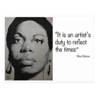 Cartão Postal Nina Simone - música e carisma