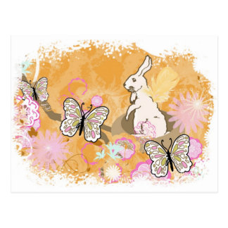 Cartão Postal Ninho do coelhinho da Páscoa