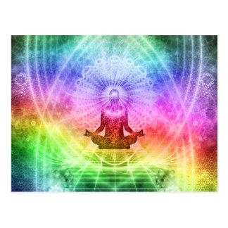 Cartão Postal Nirvana budista da meditação da ioga inspirado