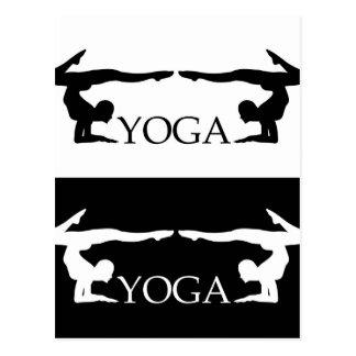 Cartão Postal Nível avançado do pose- da ioga