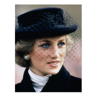 Cartão Postal No.44 princesa Diana France 1988