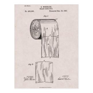 Cartão Postal No. 465.588 da patente do papel higiénico por S.