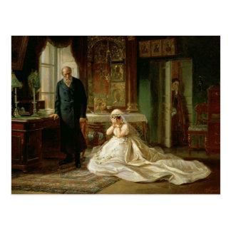 Cartão Postal No altar, 1870s